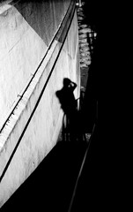 (boundary condition) (Dinasty_Oomae) Tags: bolsey  bolseyb2 b2  blackandwhite bw monochrome outdoor  chiba    steps  shadow  selfie