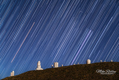 Startrails over Mount Teide observatory (Mike Ridley.) Tags: stars startrails nightscape nightphotography astrophotography astrophotographer teide teideobservatory tenerife sony2470fegm mikeridley sonya7s observatoriodelteide institutodeastrofsicadecanarias