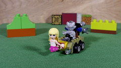 The Gargoyle decided to coerce Stephanie into being his masthead (Busted.Knuckles) Tags: home toys lego minifigures stephanie gargoyle pentaxk3 camerautility5