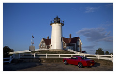 Nobska Light, Woods Hole, Falmouth, Cape Cod (danny wild) Tags: capecod massachusetts newengland sunset lighthouse autumn ocean atlantic nobska light dodge challenger