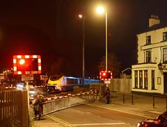 373005 at Coalville (robmcrorie) Tags: 373005 coalville high street level crossing railway inn 373006 66704 6x73 night dark rail gbrf scrap st pancras kingsbury emr eurostar