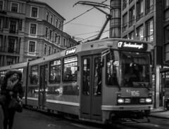 Tramspotting (Henka69) Tags: oslo street streetphoto tram spårvagn publictransportation monochrome bw