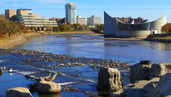 Arkansas River (Wichita, KS) (NateFischPix) Tags: river downtown wichita kansas autumn landscape city park sunny daytime natefischpix