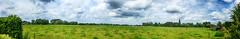 Panorama (Jan 1147) Tags: pano panorama nature natuur groen blauw green blue wolk wolken wolkendek wolkenlucht cloud clouds sky gras outdoor buitenopname lovendegem belgium