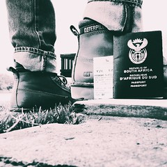 Republic of South Africa for Caterpillar boots. | #passport #boots #caterpillar #travelshoes #shoes #photographer #photoshoot #unrestricted #earthmover #camera #snapshot #flicker #blackandwhite (mphocameron) Tags: passport boots caterpillar travelshoes shoes photographer photoshoot unrestricted earthmover camera snapshot flicker blackandwhite