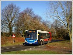 Stagecoach 22840, Murcott (Jason 87030) Tags: stagecoach enviro 2300 murcott longbuckby trees light november 2016 96 rugby bus 22840 kx09bhj