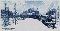 The Arctic Express (Stefano (Stephanos Kowalski)) Tags: train winter snow second life digital arctic express