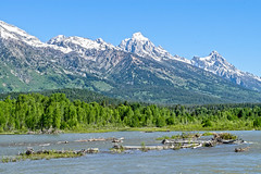 Snake River flowing along the south boundary of Grand Teton National Park (spotwolf5) Tags: grandtetonnationalpark snakeriver tetonrange greateryellowstoneecosystem jackson wyoming unitedstates