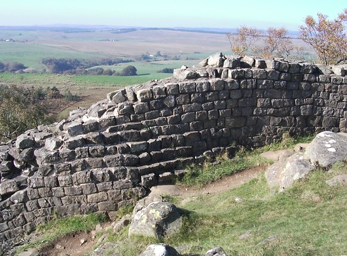 Hadrian's Wall. Detail of offsets, Walltown Crags.