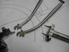 Day 2 (Shu-Sin) Tags: bicycle frame build braze brass dropout fork rake crown vent hole lugs drawing