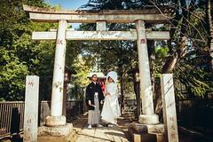 Seiko + Maciej (Sqzimaru) Tags: japanese traditional wedding torii kimono shinto bride groom tomioka hachiman shrine hakama