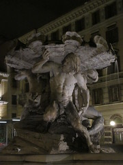 Triton fountain, Piazza Vittorio Veneto at night, Trieste, Italy (Paul McClure DC) Tags: trieste italy italia nov2016 trst friuliveneziagiulia historic architecture sculpture