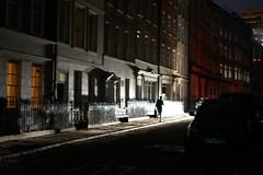 Lower John Street (sianlp) Tags: soho powercut carheadlights railings
