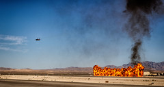 F15 and Explosions (Tydence) Tags: airshow f15 fighter explosion fire flyby nellis aviation nation airforce las vegas nevada