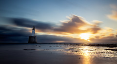 Rattray Lighthouse (Grant Morris) Tags: scotland coast sunrise sunriseoverwater lighthouse rattraylighthouse longexposure clouds sunshine beach grantmorris grantmorrisphotography canon 5d3 1635 wideangle