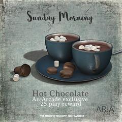 Arcade exclusive 25 roll reward (Aria/ Yelo Uriza) Tags: thearcade thearcadesl aria hot chocolate food virtualworlds virtuallife virtual 3d elegant