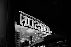 One day I met LAWSON (sunnywinds*) Tags: kyoto daily lawson cvs nijo station leica monochrom leicam monochrome blackandwhite summiluxm11435mmasph sky glance moody winter