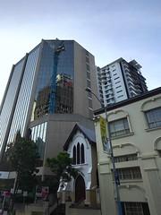 Craned reflections - 06/12/16 (Visualise it) Tags: citylife building crane reflections queensland australia brisbane iphone7plus iphone 366