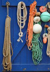 Marine rope (YellowSingle 单黄) Tags: biarritz marine rope mooring fishing harbor nikon d3 pays basque
