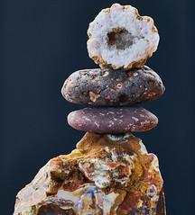 Balance (Mawddach Pictures) Tags: balance blackbackground balanced flickrfriday agate geode