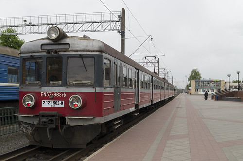 Polish electric train at the Grodno railway station, 03.05.2014.