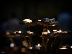 Lighten up (lamnn92) Tags: firenze florence tuscany church basilica cathedral cattedraledisantamariadelfiore candles prays bokeh dark abstract travel panasonic fz1000