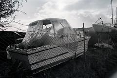 Film (James Giblin) Tags: nikonfa bnw ilford ilfordxp2 boats analog 35mm