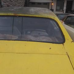 Rusted lemon #toronto #dovercourtvillage #dupontstreet #cars #yellow #lemon (randyfmcdonald) Tags: yellow dupontstreet dovercourtvillage cars toronto lemon