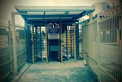 Turnstiles (markhorvath) Tags: fairfield turnstile turnstiles steel controlpoint accesscontrol gate stop warning abandoned derelict