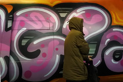 Passing by (Heathermary44) Tags: indoor grafitti train commuter copenhagen streetphotography