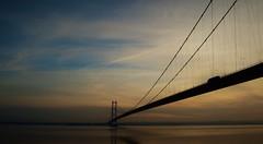 The Daily Bridge Commute (Ash' Burnham) Tags: hull humber bridge humberbridge cityofculture 2017 hull2017 commute sun sunset clouds sky neature outside outdoor outdoors beautiful pretty landscape winter wintersun bluehour