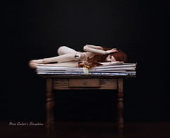Small comfort (pure_embers) Tags: pure embers bjd doll dolls uk girl forgottenhearts fhdolls pureembers seraphine photography photo ball joint porcelain portrait fine art table love letters lensbaby dark hurt sadness death