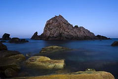 Sugarloaf Rock (Macr1) Tags: 61403327236 australia camera capenaturaliste coast conditions d700 default filters geography lens location markmcintosh night nikon nikond700 ocean outdoor samyang14mmf28ifedumclens shore stars sugarloafrock temperate wa water westernaustralia macr237gmailcom ©markmcintosh naturaliste au vlife 15000lumens