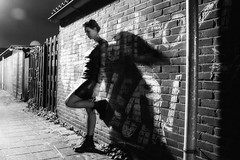 Selfie (Misfit fotografie) Tags: selfie misfit winter cold alley blackwhite bw monochrome