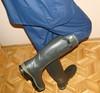 Waterproof suit with wellies (Nolexander) Tags: blue wellies wellingtons rainboots gummistiefel rubber waterproof jacket trousers caoutchouc paralume chanclo calorisch regenmantel