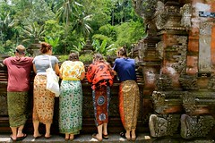 Sarongs (LIU Global) Tags: travel bali temple springs studyabroad freshwater sarongs experientiallearning tirtaempul travelingclassroom globalcollege liuglobal