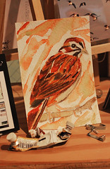 Work in Progress (skipmoore) Tags: bird painting downtown artist open sparrow works marfin aritists studiosart