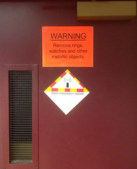 Quadrangles at Defense Information School. (byzantiumbooks) Tags: signs warning hazard rf radiofrequency dinfos