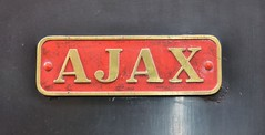 Ajax at  Havenstreet (davids pix) Tags: railway steam isleofwight locomotive preserved ajax barclay nameplate 1605 2014 havenstreet sulphidecorporation 07052014 barclay1605