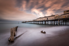 Grand Pier, Teignmouth (Davoud D.) Tags: wood uk longexposure sea england beach water pier sand waves piers devon waterblur grandpier teignmouth teignmouthpier