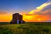 Okaton Ghost Town Gran Elevator (kendra kpk) Tags: sunset summer grass southdakota elevator july ghosttown 2014 okaton dakotawindsphotography kendraperrykoski