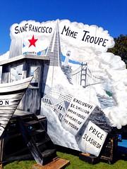Set for @SFTroupers SF Mime Troupe performs 2 pm Sat Dolores Park Sun @ybca #EllisAct #4thofJuly #techboom (Steve Rhodes) Tags: 4thofjuly missiondolorespark ellisact techboom
