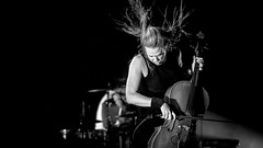Apocalyptica #2 (Subdive) Tags: bw music white black monochrome metal canon eos concert sweden stockholm live eicca cello sverige hardrock apocalyptica cellist symphonic 40d toppinen magicdrainpipe