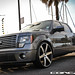 Ford F150 on CW-6 Matte Black Machined Face