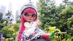 Happiness is relaxing in the park with your favourite dolly