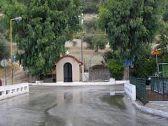 (Psinthos.Net) Tags: road storm water field rain spring chapel august sidewalk rainingday olivetrees   vrisi  psinthos          summersrain  summersstorm    vrisiarea euaclypts