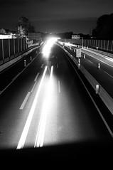 A40 bei Nacht s/w (tobiasdunkel) Tags: nacht a40 langebelichtung