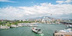 TAMSUI VENCE (Zhouboq) Tags: old bridge blue venice sky man river gold boat taiwan taipei  tamsui