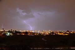 Lightning over Tempe Arizona (sdacosta85) Tags: arizona phoenix monsoon thunderstorm lightning duststorm tempe haboob nikond7000