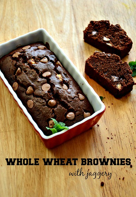 how to make healthier brownies with whole wheat flour (Indian wheat ...